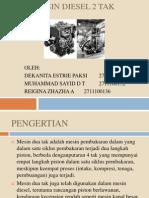 Mesin Diesel 2 Tak Ppt