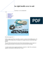 Tips to Pick the Right Health Cover to Suit Your Needs