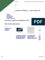 Cómo Hacer Capturas de Pantalla en Mac OS X