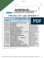 Books Pricing