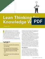 Lean Knowledge Worker