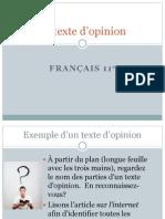10331 Théorie Texte d'Opinion
