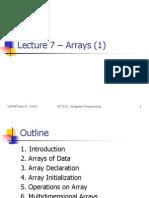 EKT120_LECTURE07_ARRAYS1