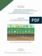 Rapport Favorable Commissaire Enqueteur
