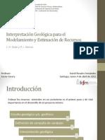 Interpretaci n Geol Gica Para El Modelamiento y Estimaci n de Recursos