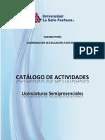 Catalogo de Actividades -2013-Paralicenciatura