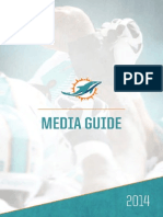 2014 Miami Dolphins Media Guide