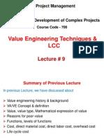 Value Engineering Techniques & LCC Methods