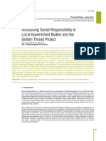 Introducing Social Responsibility in Local Government Bodies and the Golden Thread Project