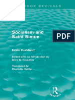Sociology and Saint Simon by Émile Durkheim