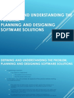 8.2.1 Defining and Understanding the Problem and Planning and Designing Software Solutions