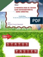 Presentasi kasus osteoarthritis