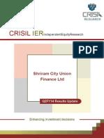 ShriramCity DEBT CRISIL RATING