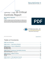 SANS Top 20 Critical Controls Report