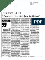 Intervista al Ministro Guidi su crescita e industria, la Stampa, di Paolo Baroni