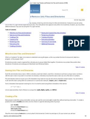 ITSDocs_ Create, Copy, Rename, And Remove Unix Files and
