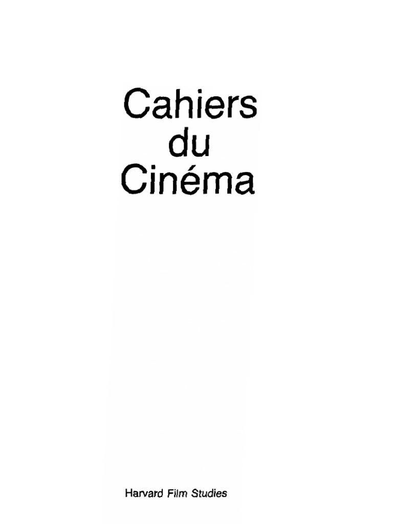 Cahiers.du.Cinema.-.1960-1968.PDF-KG | Cinema | Leisure
