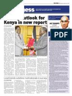 Gloomy Outlook for Kenya in New Report