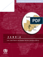 Law, Land Tenure and Gender Review