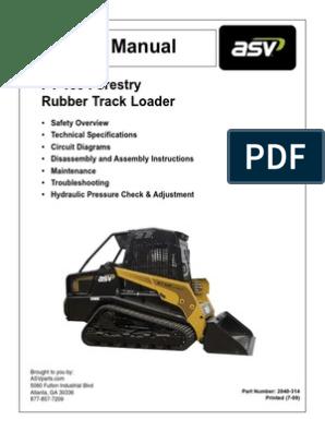 ASV PT100 Forestry Service Manual   Loader (Equipment)   ElevatorScribd