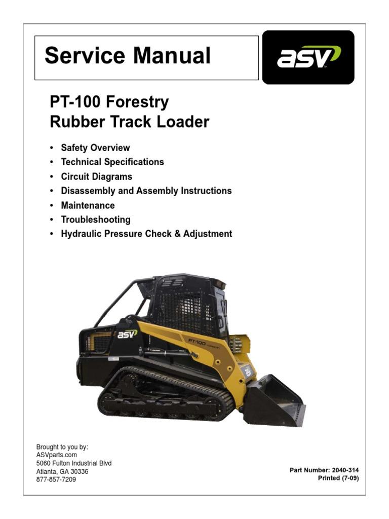 asv pt100 forestry service manual loader equipment elevator rh scribd com ASV SR80 Wiring-Diagram Yamaha Wiring Harness Diagram