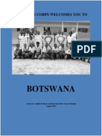 Peace Corps Botswana Welcome Book |  August 2014