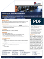 MFG Supporting Global CRM HR Helpdesk implementation for multinational conglomerate corporation
