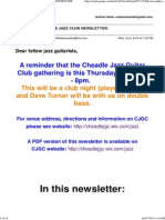 July 2014 Cheadle Jazz Guitar Club Newsletter