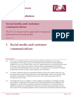 FCA Guidance Consultation on Social Media and Customer Communications (1)
