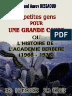 Histoire de l'Académie Berbère, Mohand Aarav BESSAOUD (2000)