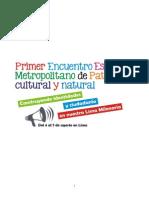 1er Encuent Metrop Resumen 20junio2014