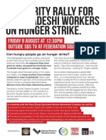 Bangladesh Hunger Strike Flyer