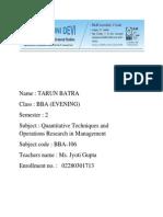 Tarun Qt Assignment