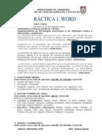 Practica 1. Word. 2014