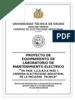 Proyecto de Equipamiento de Laboratorio de Mantenimiento Electrico de Fases 1,2,3,4,5,6 Revision 2