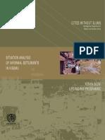 Situation Analysis of Informal Settlements in Kisumu