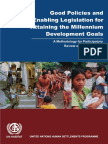 Good policies and enabling legislation for attaining MDGs