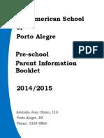 preschool parent handbook 2014-15