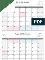 Calendar A4w