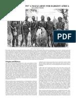 In Darkest Africa (9) ~  A Masai Army