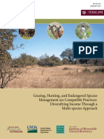 Grazing, Hunting and Endangered Species Management are Compatible Practices