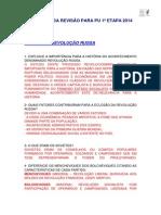 GABARITO DA REVISÃO REVOLUÇÃO RUSSA E AMÉRICA NO SÉCULO XX PU 1ETAPA