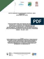 Términos Convocatoria Departamental Ondas - TIC 2014 - 2015 (2)