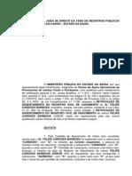 Acao Retif Registro Casam Nascim Troca Letras