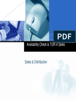 Availability Check Transfer of Requirements Sales