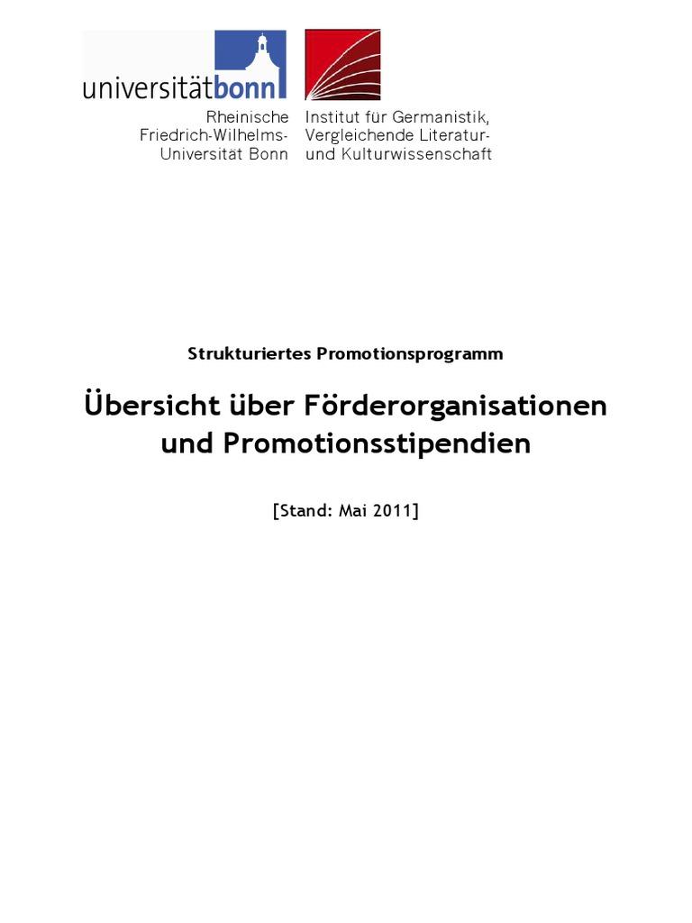 Uebersicht Foerderorganisationen Promotion