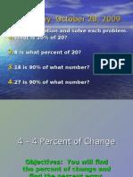 4-4 Percent of Change