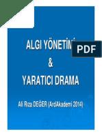 Algı Yönetimi & Yaratıcı Drama (Ali Riza DEGER)