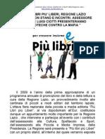 """Giulia Rodano e Luigi Ciotti presentano """" Biblioteche contro la mafia""""  a Più Libri Più Liberi"""