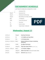 2014 Middletown Grange Fair Entertainment Schedule